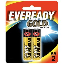 Pilha Alcalina AA 2 Gold Eveready