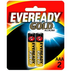 Pilha Alcalina AAA 2 Gold Eveready