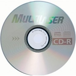 Mídia CD-R 700mb 80m 52x Multilaser
